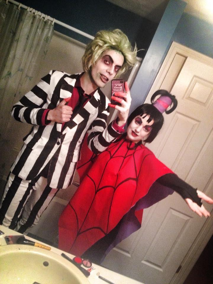 Strangebats Beetlejuice And Lydia Deetz Costumes Based On The 90s
