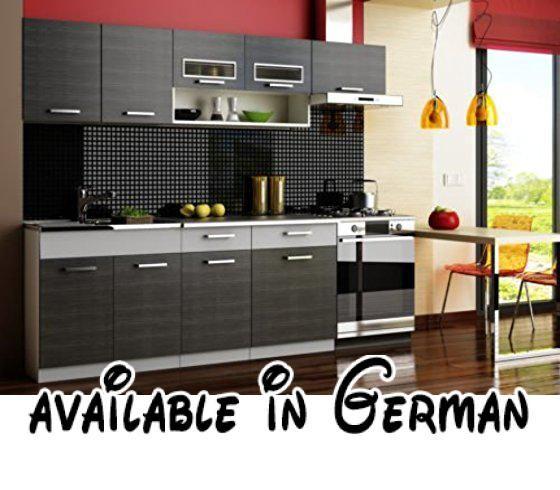 B0764BBDBX  Komplett Küche 240cm Schränke Küchenzeilen MORENO - küchen unterschrank 100 cm