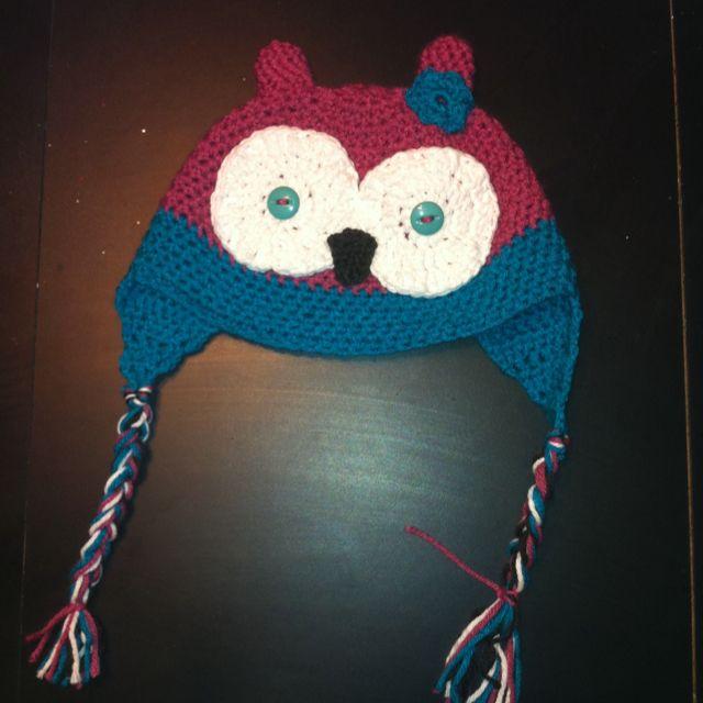 Cute little crochet owl hat for my niece