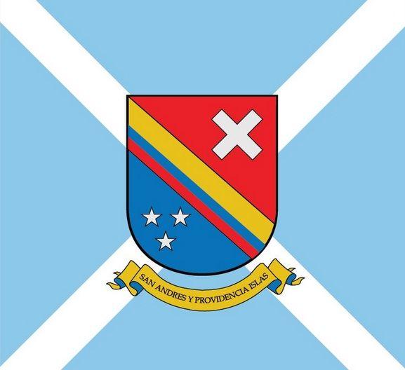 Bandera Y Escudo Del Archipielago De San Andres Providencia Y