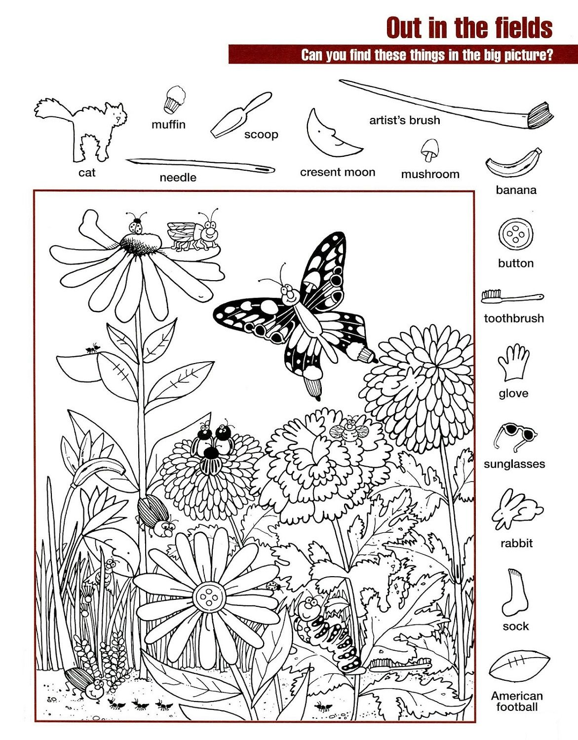 Hidden Pictures Worksheets With Images