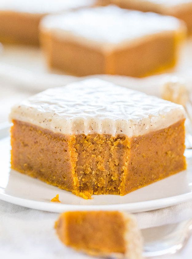 Fudgy Pumpkin Bars with Vanilla Bean Browned Butte