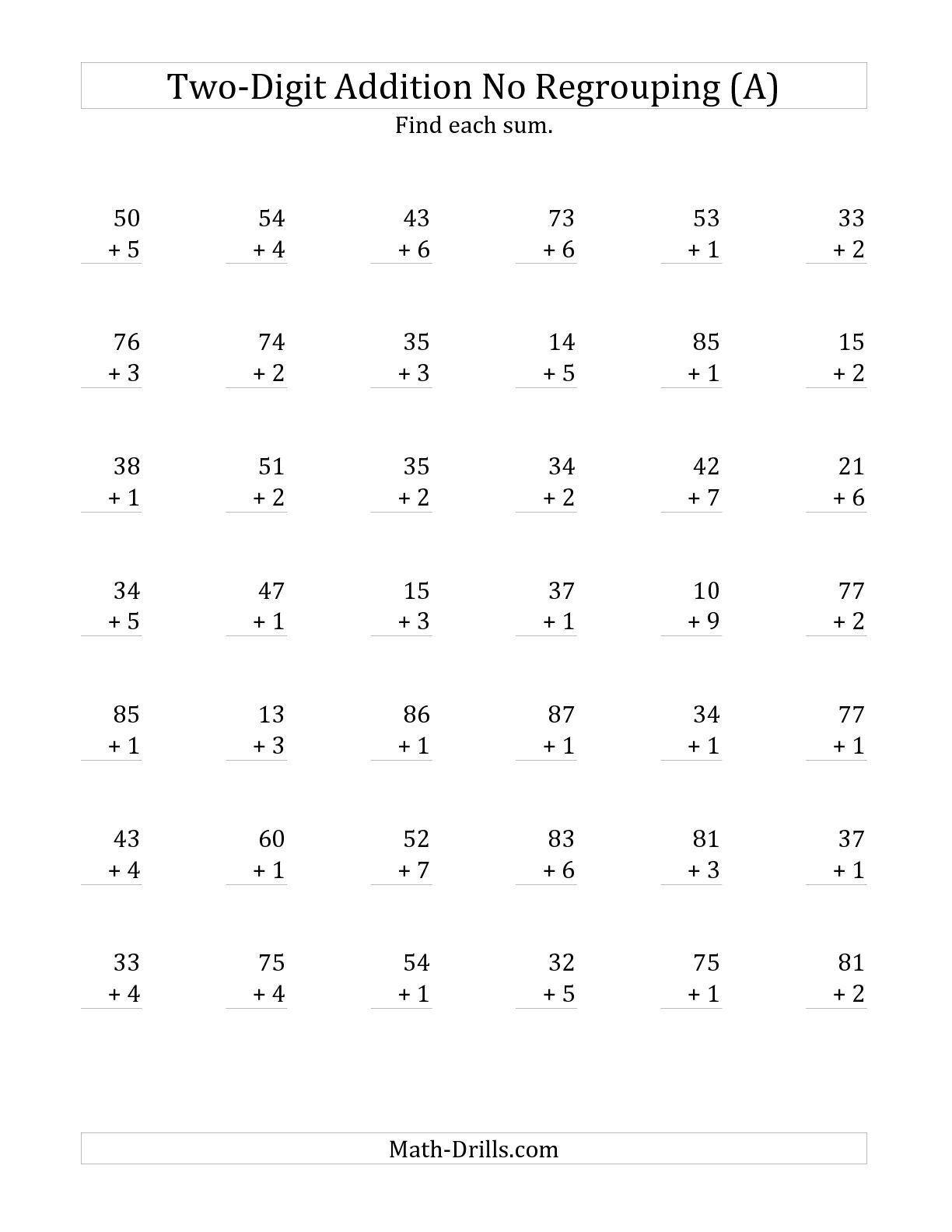 5 Free Math Worksheets First Grade 1 Addition Adding 2