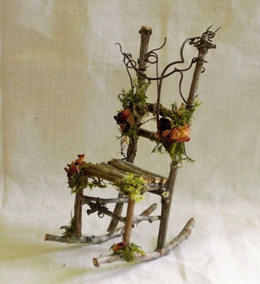 Fairy Furniture From Twig   Fairy garden furniture, Fairy ...