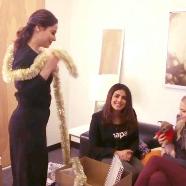 #SneakPeek to a fun girls' night in with @thejohannabraddy & @jazmasri & @DiariesOfDiana... Check out fb.com/priyankachopra for the full video... #ComingSoon @AJIOLife #DoubtIsOut
