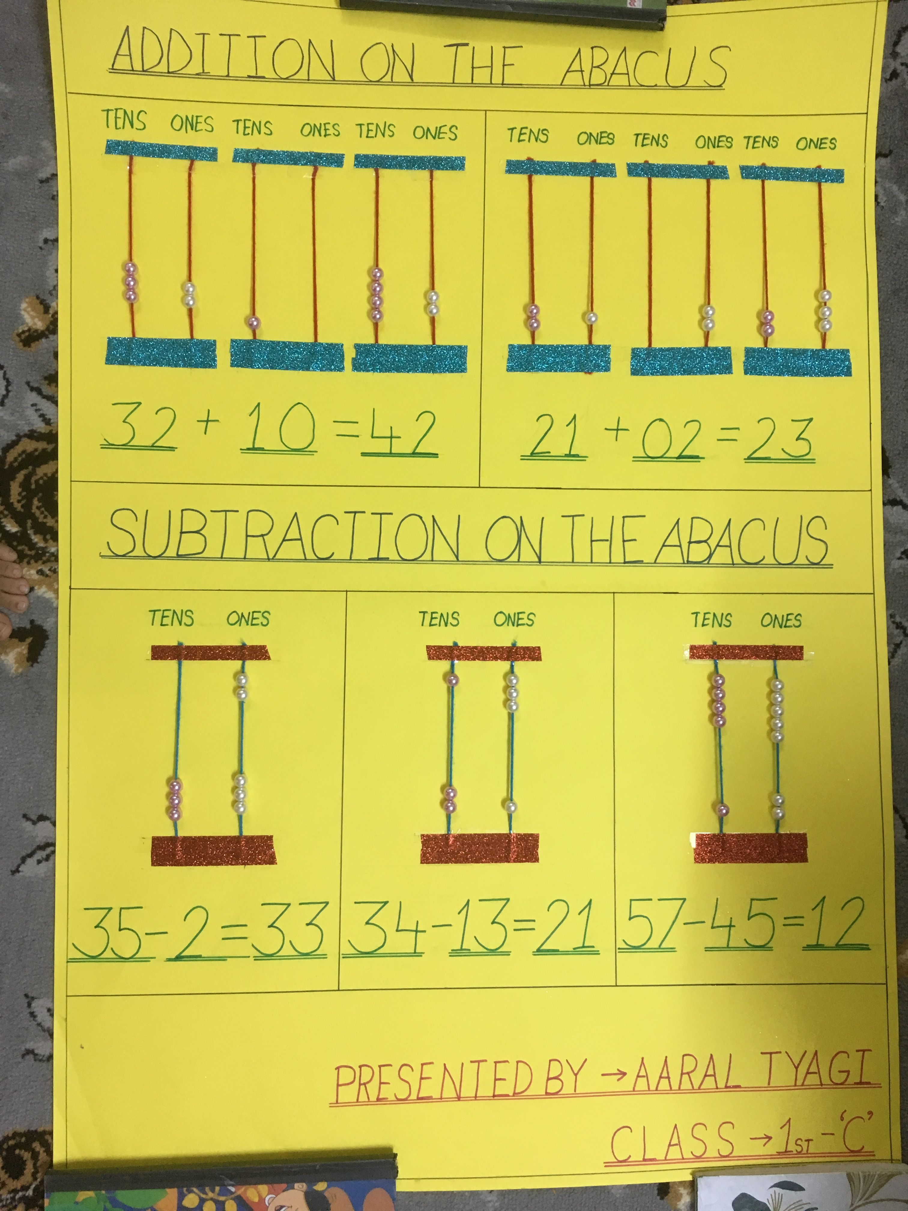 Addition And Subtraction On Abacus