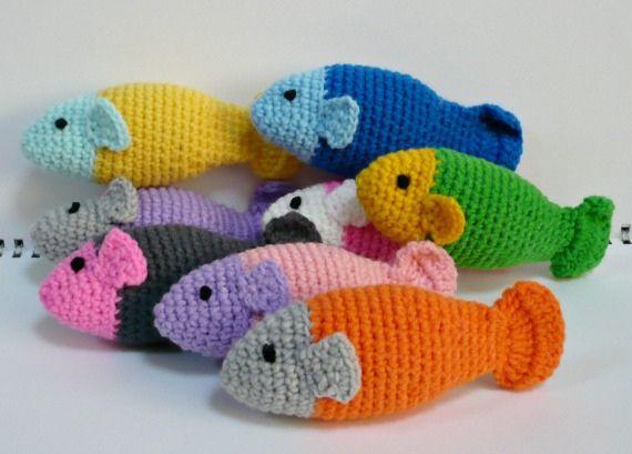 Catnip Fishies Kitty Toy Crochet Fish Patterns Crochet Fish Crochet Cat Toys