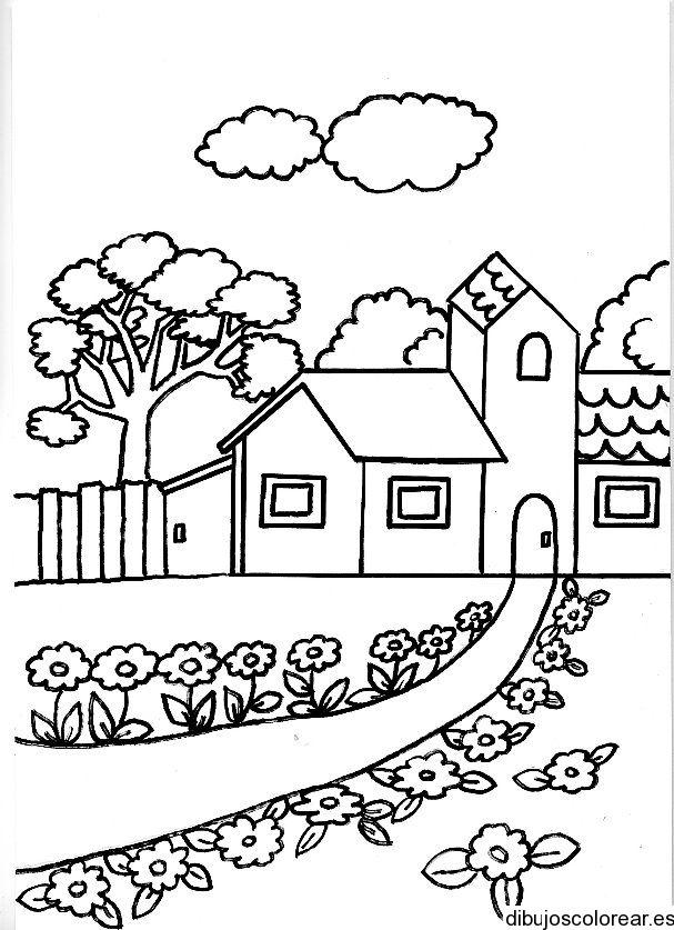 Casas | Dibujos para Colorear