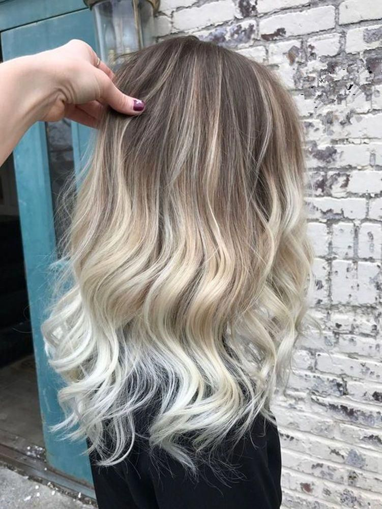 European 100% Human Hair Wig Ombre Blonde Full Lace Wig Lace Front Wig | eBay