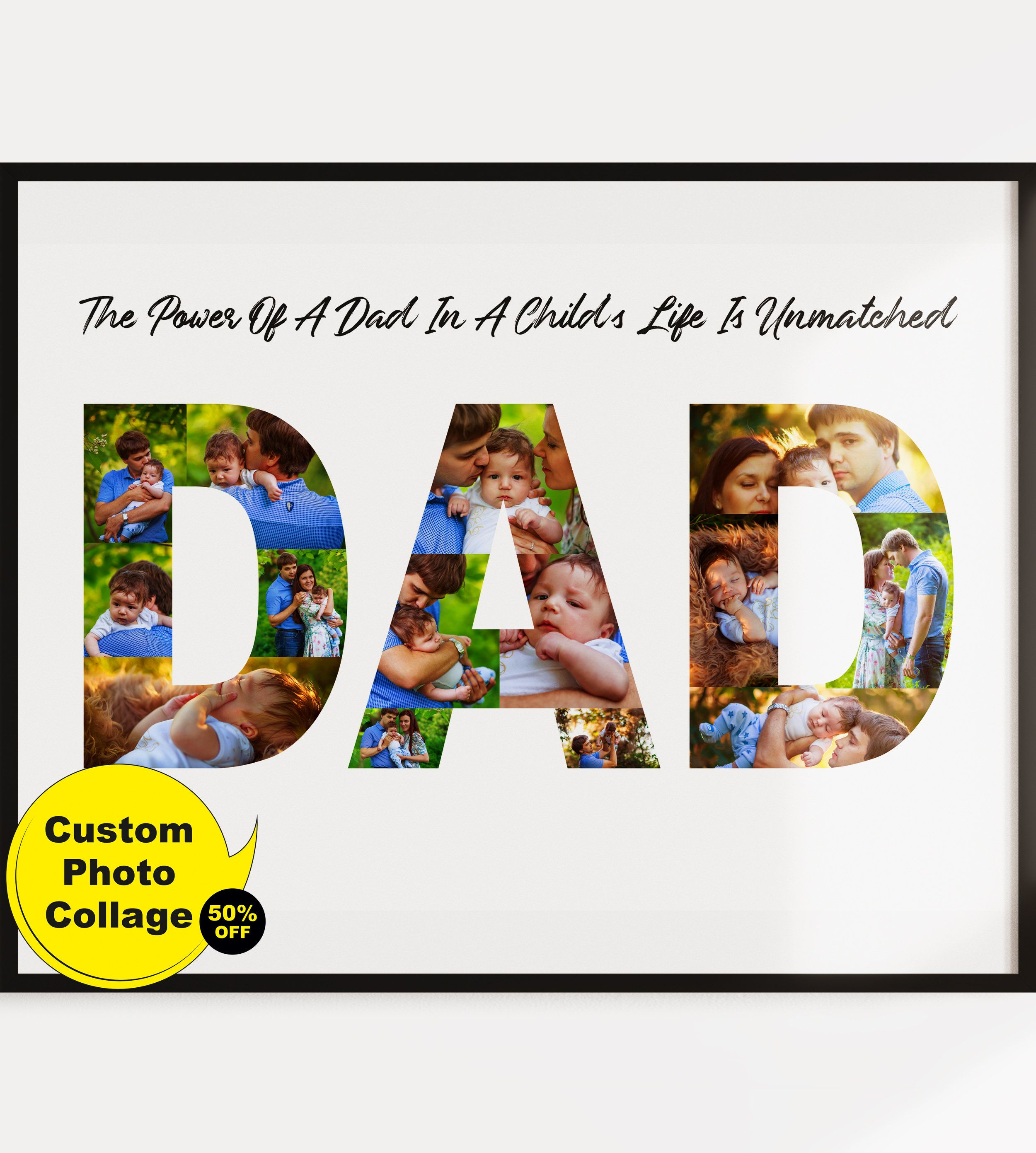 Dad photo collage personalized dad gifts dad photo gift