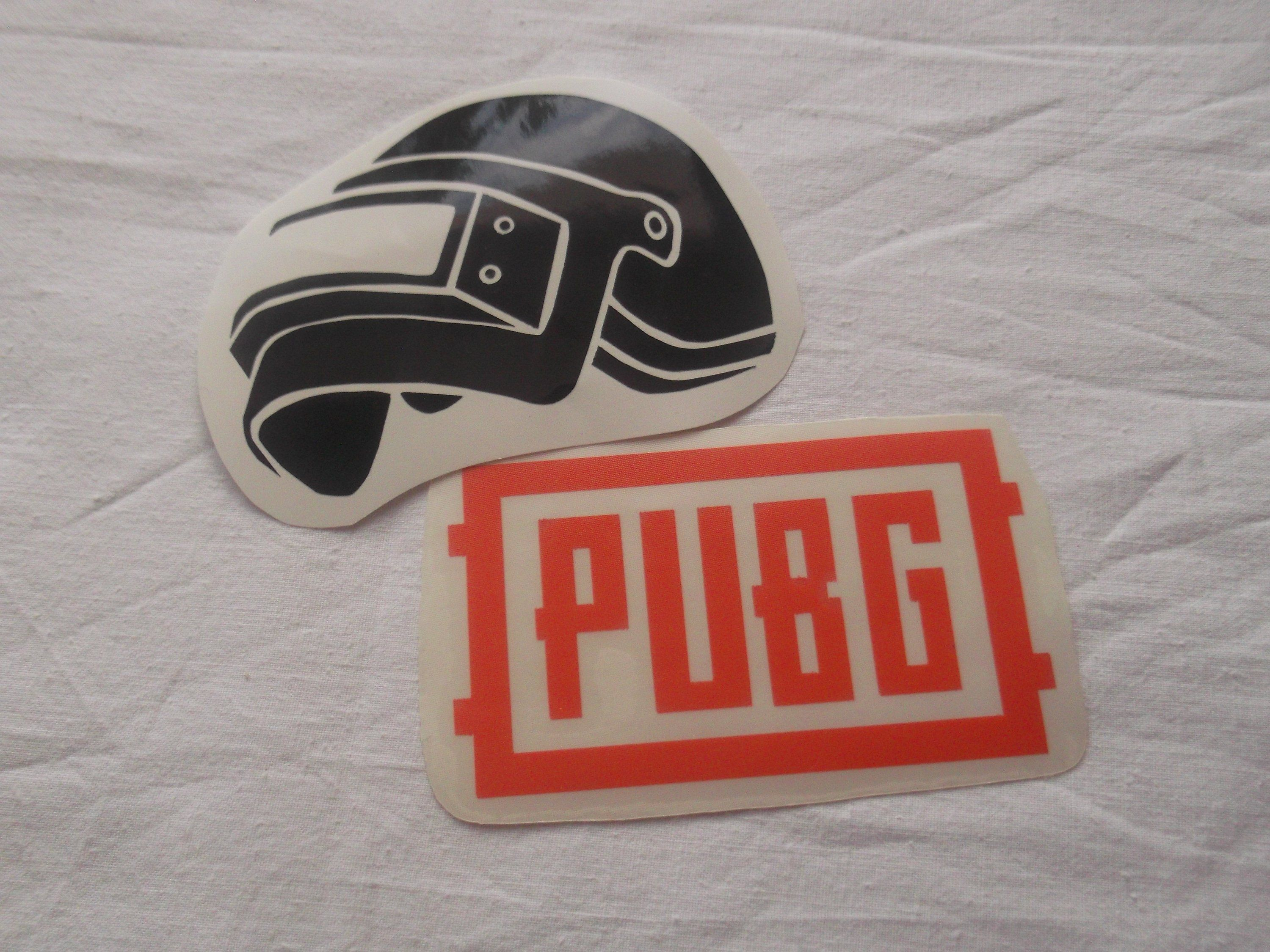 Playerunknowns battlegrounds themed vinyl stickers decals pubg logo helmet full pubg text others