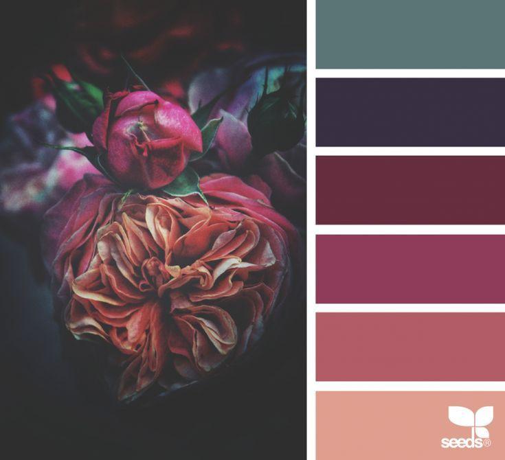 Flora Hues - Dark color palette inspiration