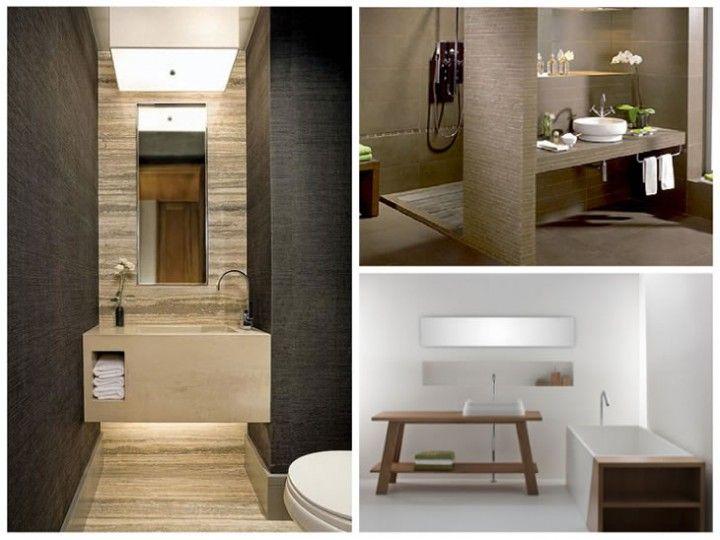 Ba os minimalistas espacios interiorismo residencial en for Grado medio decoracion de interiores