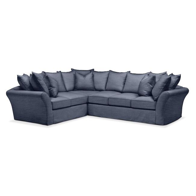 Good Living Room Furniture   Allison 2 Pc. Sectional With Left Facing Sofa   Cumulus In