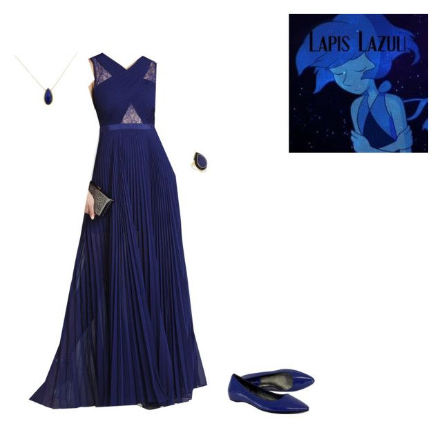 """""""Steven Universe: Lapis Lazuli"""" by phoenix1053 ❤ liked on Polyvore featuring BCBGMAXAZRIA, Cole Haan, Ippolita and Lazuli"""