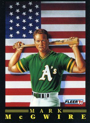 Rare 1991 Fleer All American Mark Mcgwire Oakland Athletics Mint