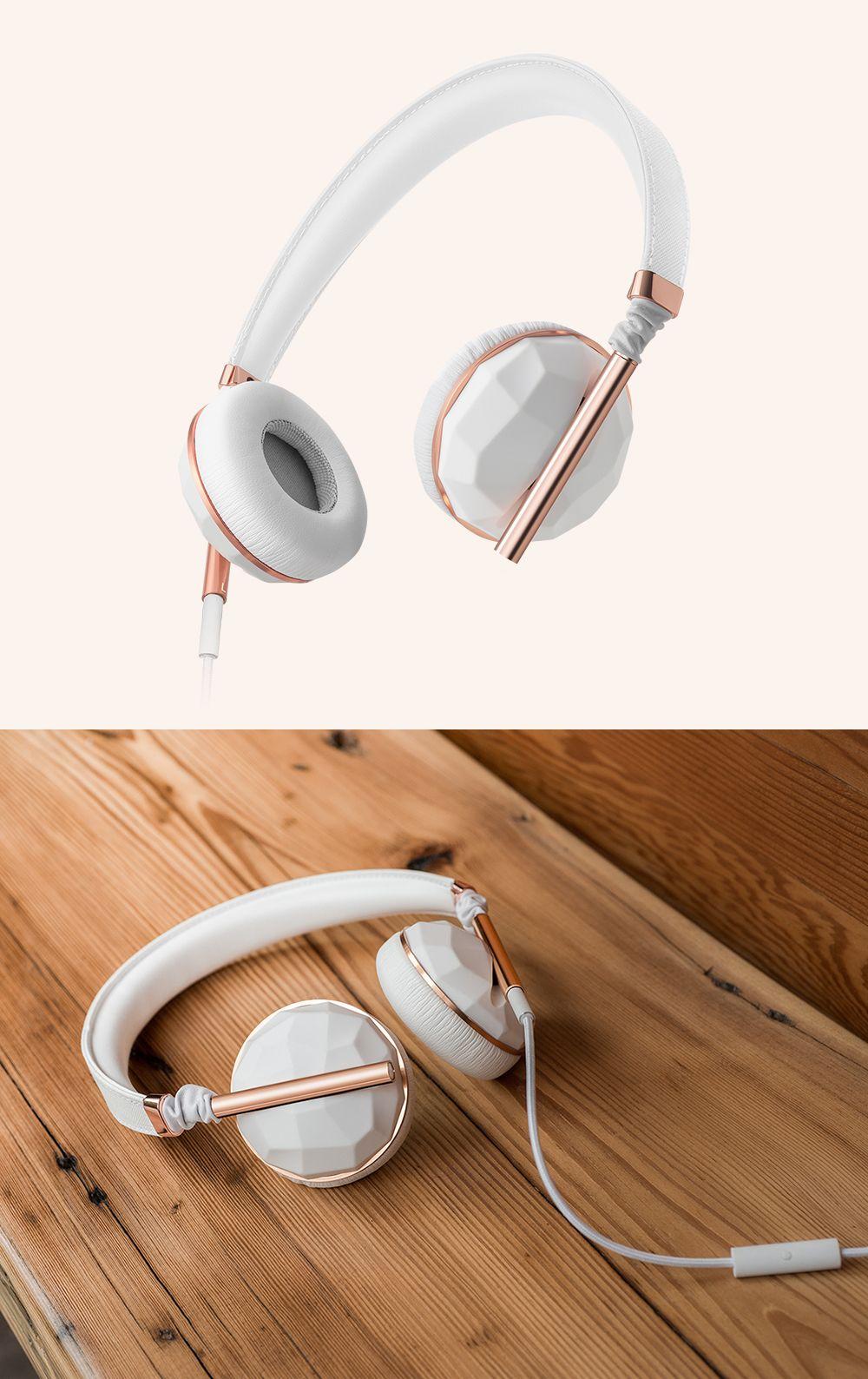 Caeden Linea N°1 Faceted Ceramic & Rose Gold Headphones