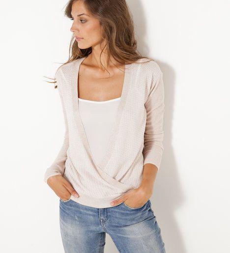 acheter populaire d409f cc328 Pull cache-cœur femme | Wear | How to wear, Tops, Fashion