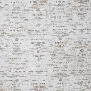 Paris Map Printed Woven Fabric Taupe Cm Sewing Pinterest - Paris map fabric