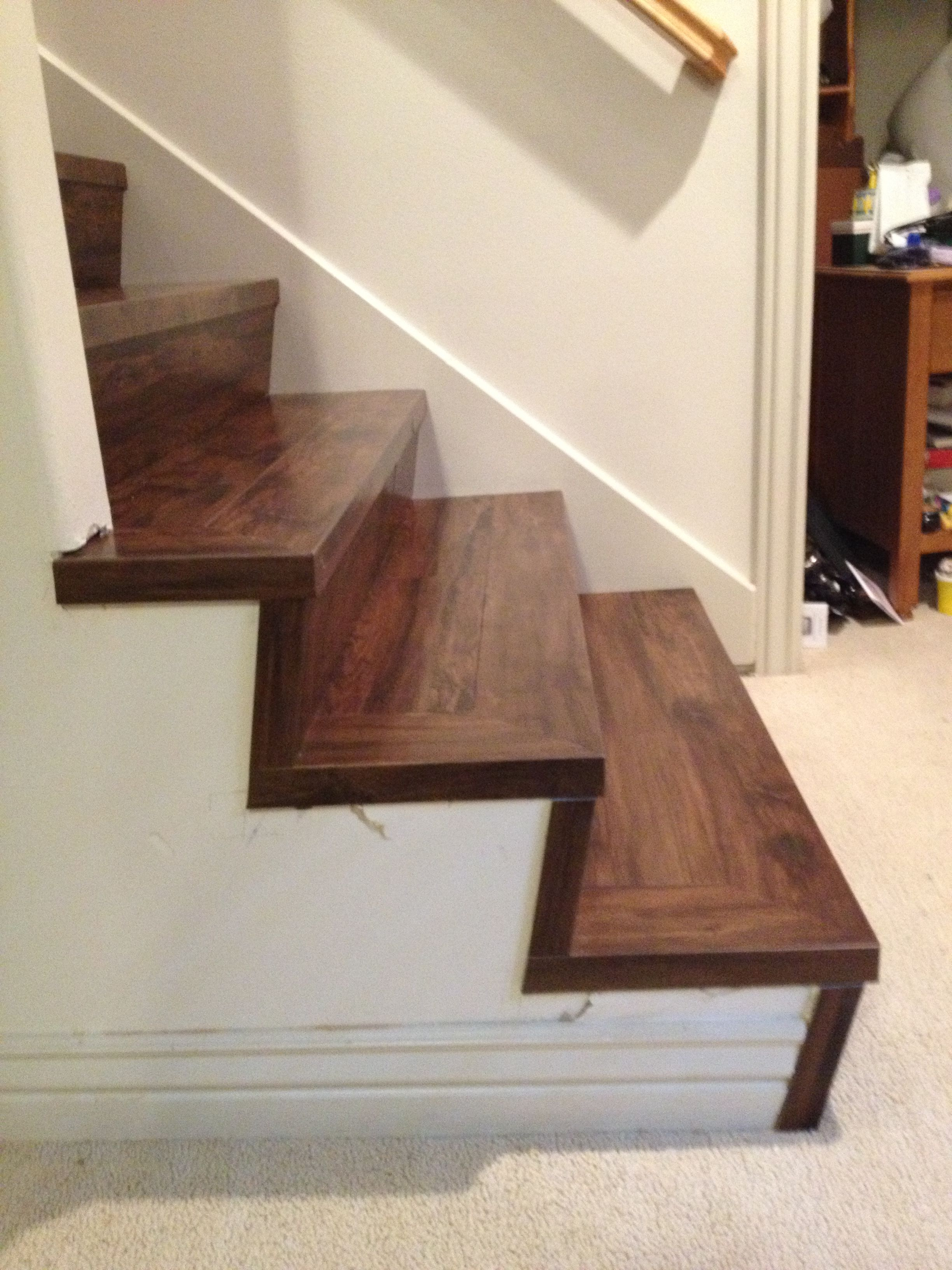 Custom Installation With Adura On The Steps Looks Fantastic Vinyl Flooring Kitchen Flooring For Stairs Vinyl Flooring