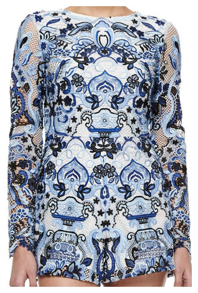 """""""Alexis Rilay Patterned/Mesh Romper"""" by taught-to-fly19 on Polyvore featuring moda e Alexis"""