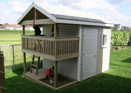 Playhouse Storage Shed   Outdoor Playhouse Plans