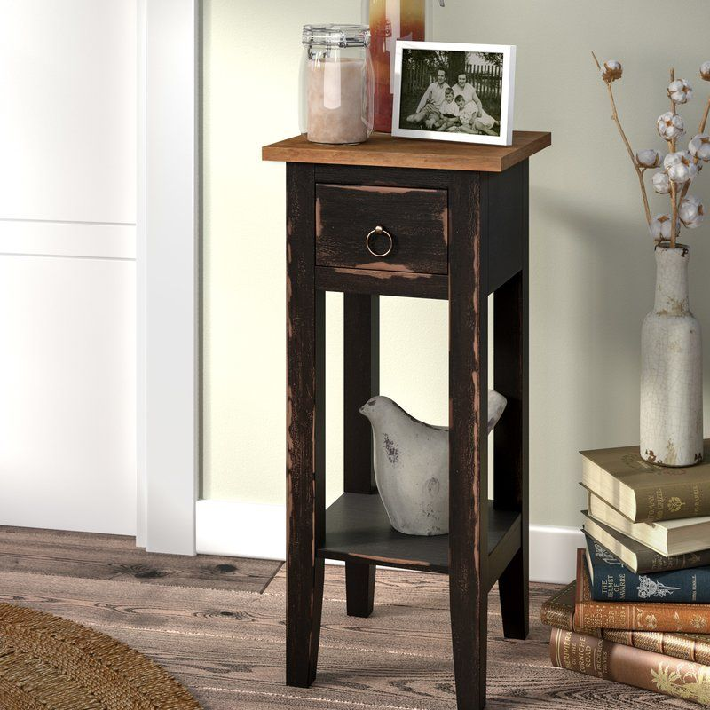 Tompkins Narrow End Table with Storage (With images) End