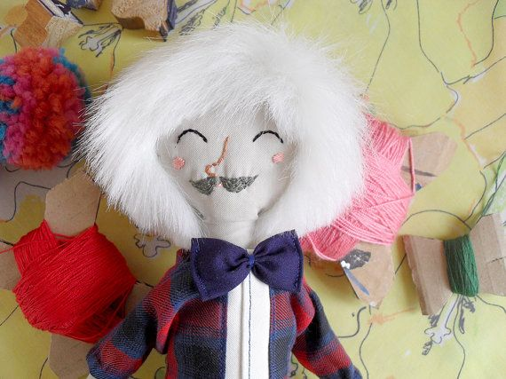 Soft doll made with love by Cecilia Plaza Handmade