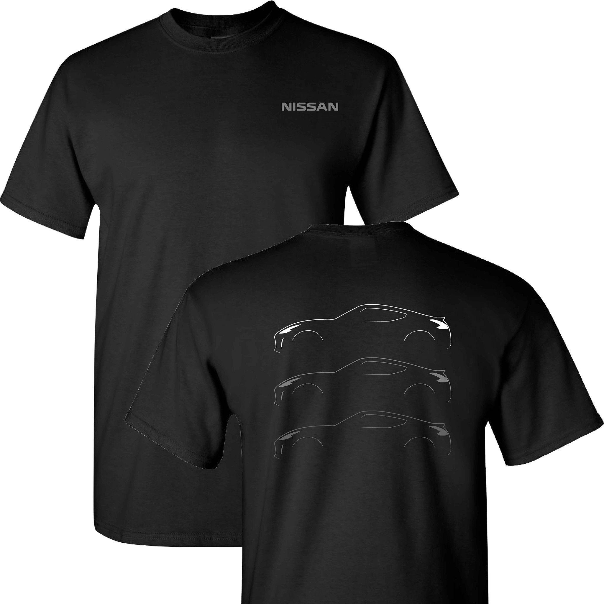 Nissan Z Silohuette on a Black T Shirt