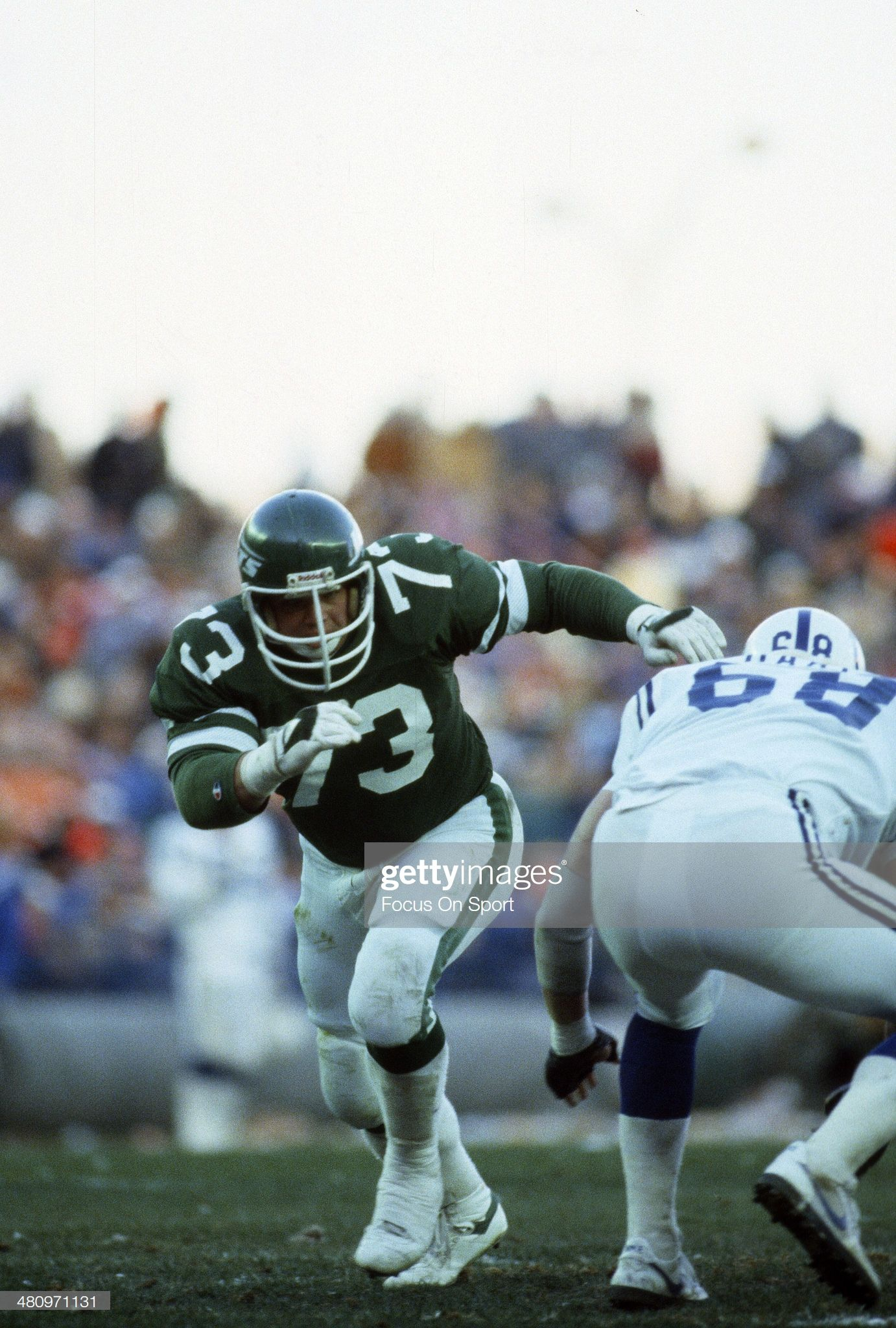 Joe Klecko of the New York Jets in action against the
