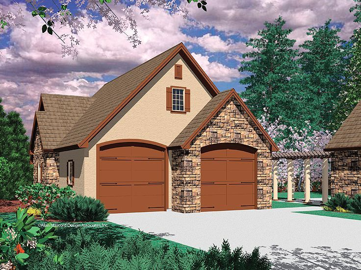 4Car Tandem Garage Plan 034G0013 Garage Pinterest – Affordable Garage Plans