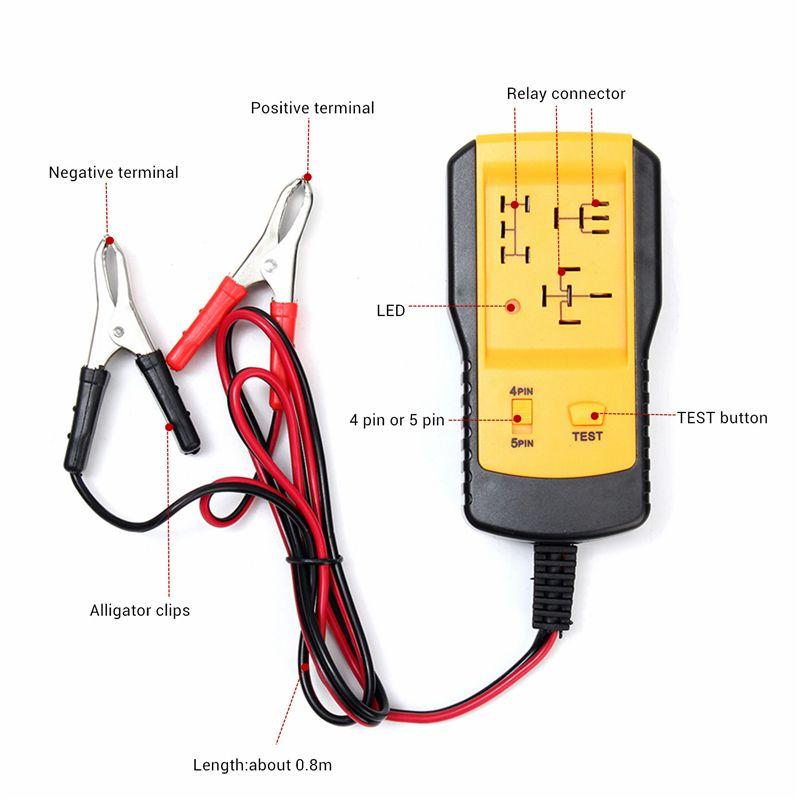 AE100 12V Car Relay Tester Automotive Battery Diagnostic