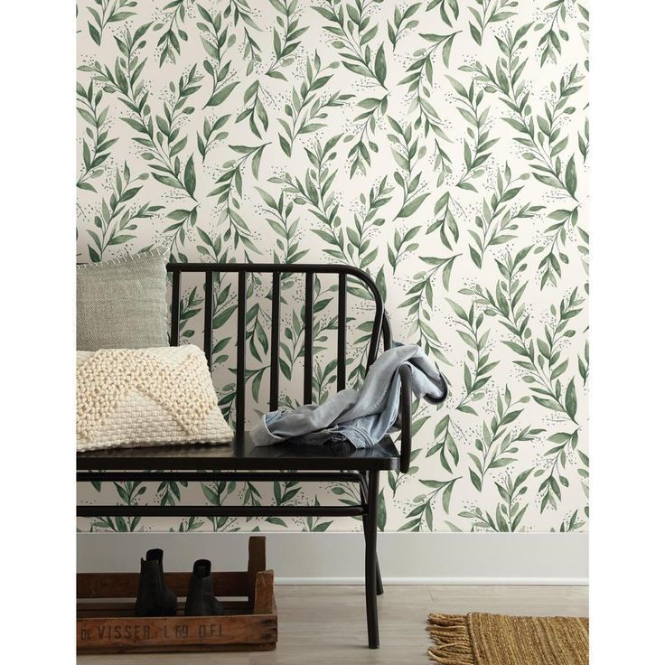 magnolia home olive branch peel and stick wallpaper