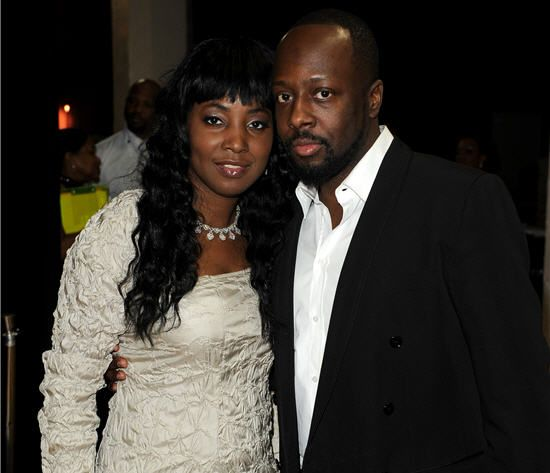 Wyclef Jean with Wife Marie Claudinette