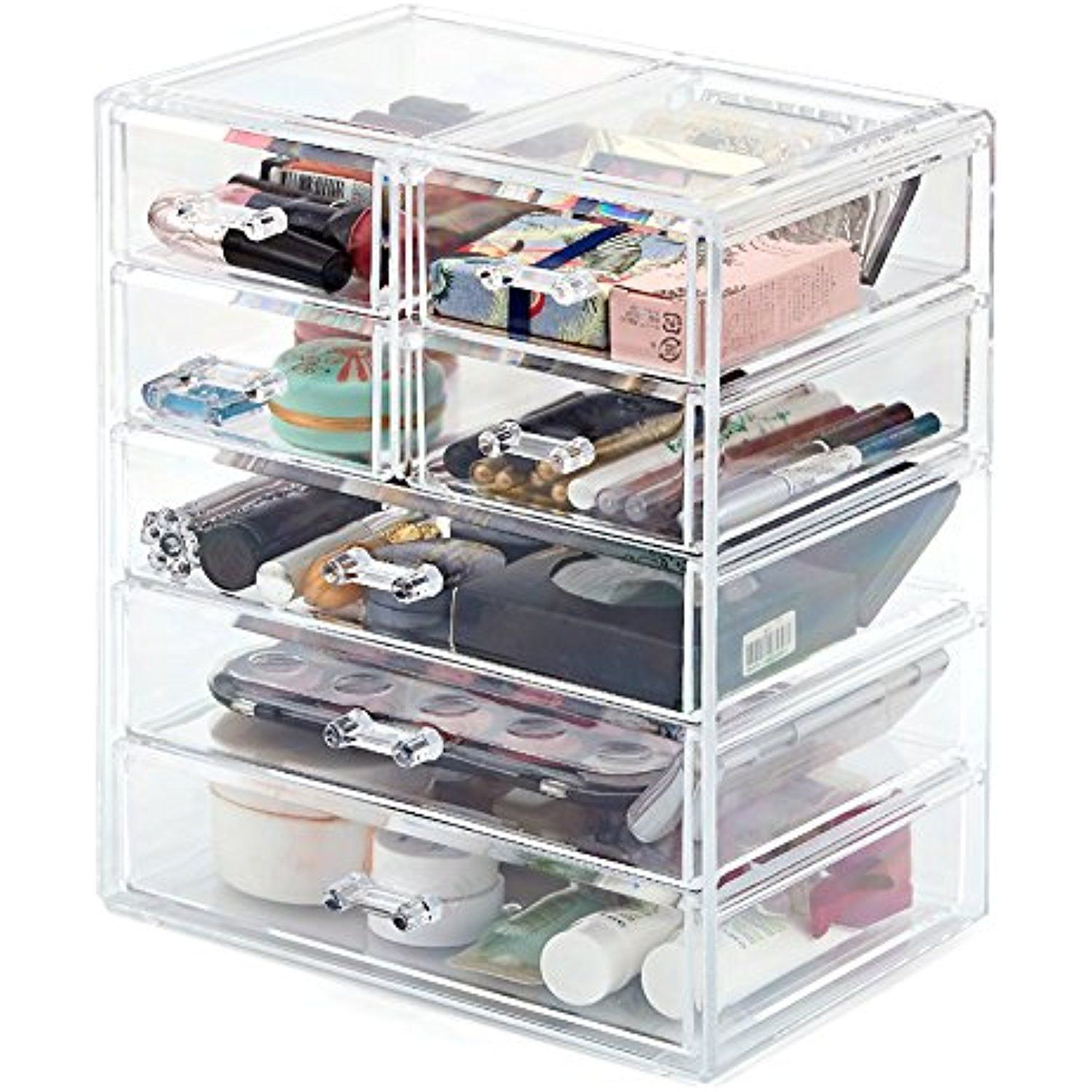 Makeup Organizer EZOWare Acrylic Cosmetic Organizer with 7 Drawer