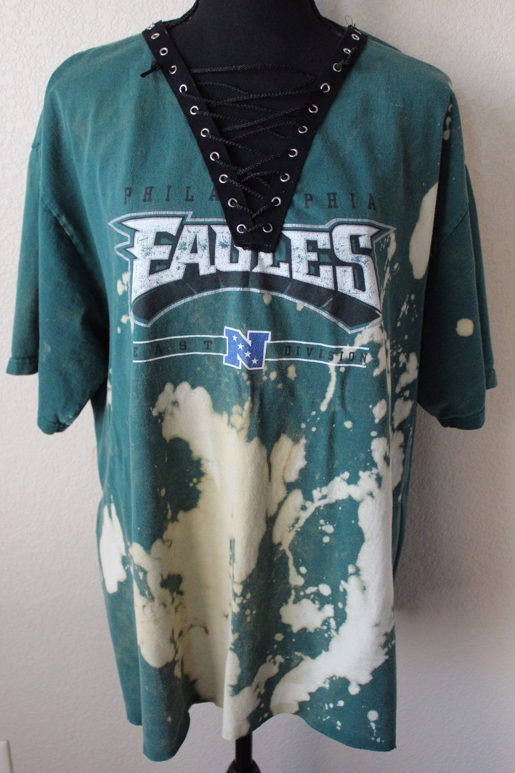 info for 99fc2 b4657 Philadelphia Eagles l Lace up l XL | DESERT WILLOW {Upcycled ...