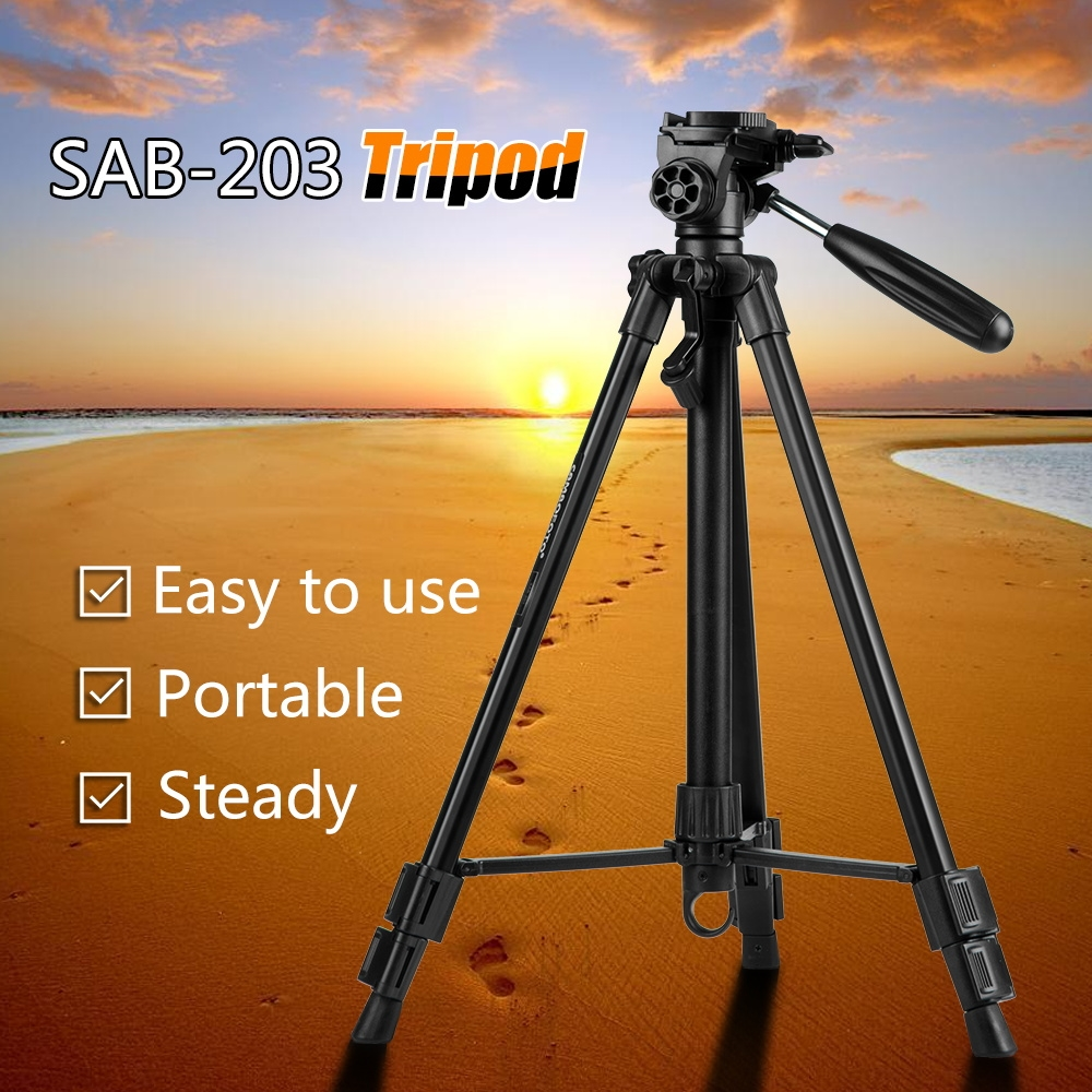 42.00$  Buy here - http://aidft.worlditems.win/all/product.php?id=32671368353 - 140cm/55inch Professional Photographic Portable Tripod Stand for Canon Nikon DSLR Camera with Pan Tilt Max Loading 4Kg pantint