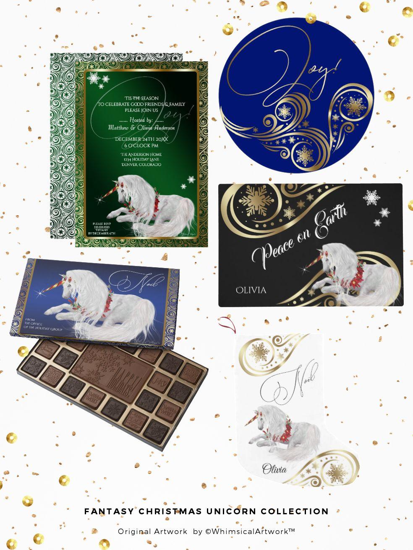 Fantasy Christmas Unicorn Collection Christmas Decor Items