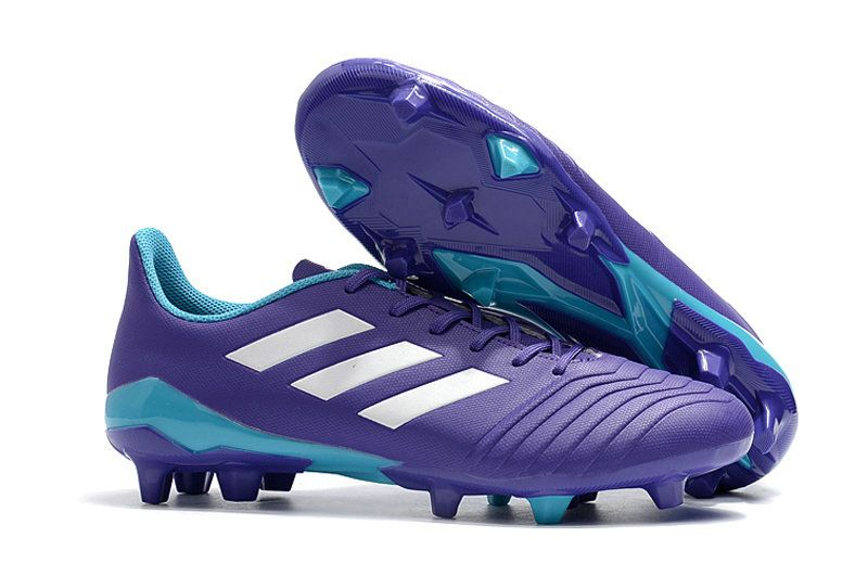 Men Adidas Predator 18 4 FG 2018 Word Cup Soccer Cleats Purple White Blue fd0298d2e