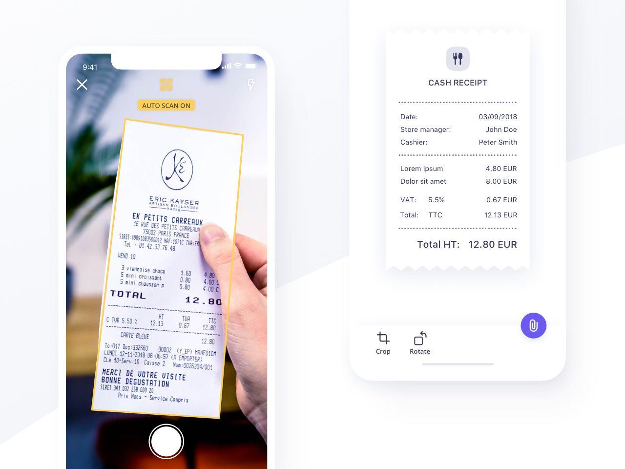 Scan Receipt Qonto Ios App Christophe Kerebel Product Designer Scan App Ios App