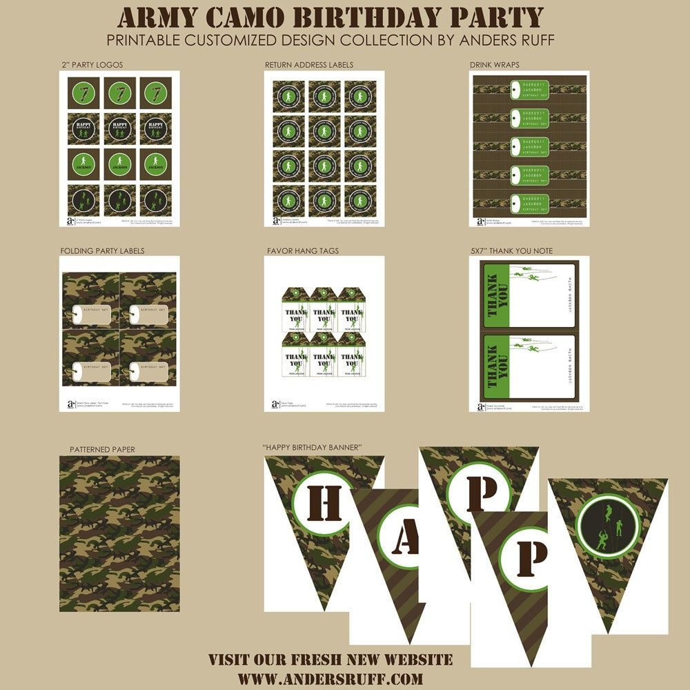 Army birthday party | Army Theme Party Ideas | Pinterest | Army ...