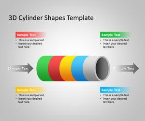 Free D Cylinder Powerpoint Template And Cylinder Powerpoint Shape