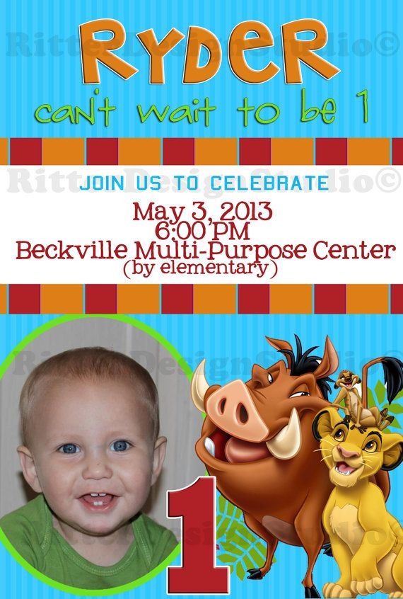 Lion King Birthday Invitation Printable Babyyys Kidss - Lion king birthday invitation template free