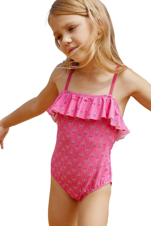 eca66fad0cf224 Z| Chicloth Little Girls Crisscross Open Back Printed One-Piece Swimsuit