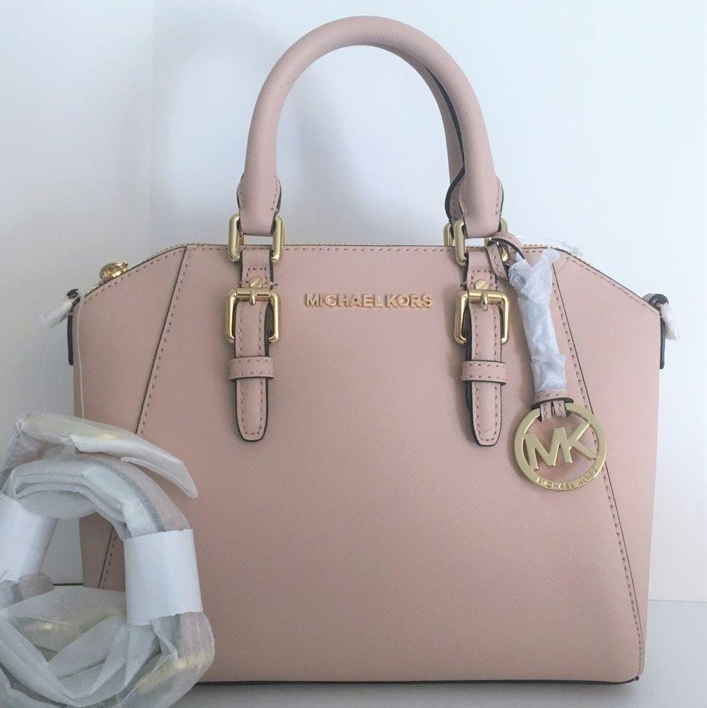 64dc398bedc93 Michael Kors Ciara Medium Satchel Handbag ~ Ballet Leather ~ NWT Blush Pink   MichaelKors  MessengerCrossBody