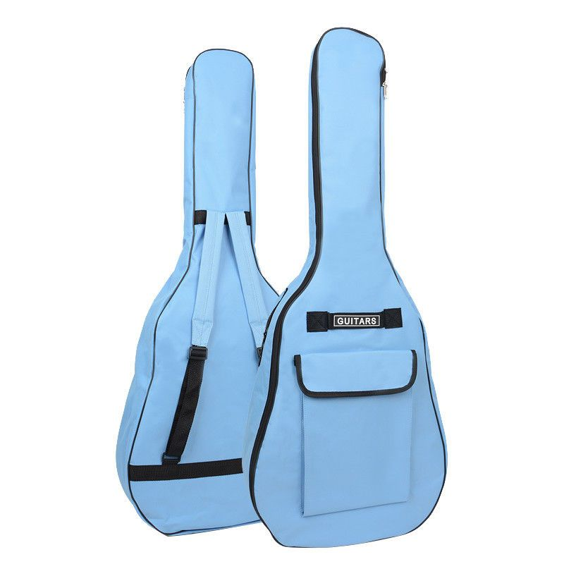 Guitar Gig Bag Soft Case Acoustic 40 41 Inch Guitar Bag Blue Oxford Fabric Cases Guitar Bag Acoustic Guitar Waterproof Backpack