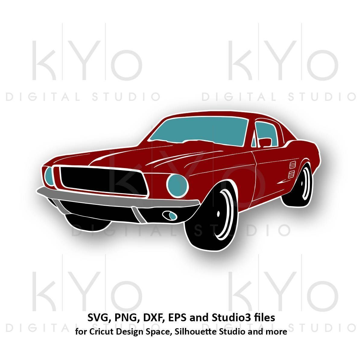 Clic Ford Mustang Svg Png Car Silhouette Clipart Muscle Files For