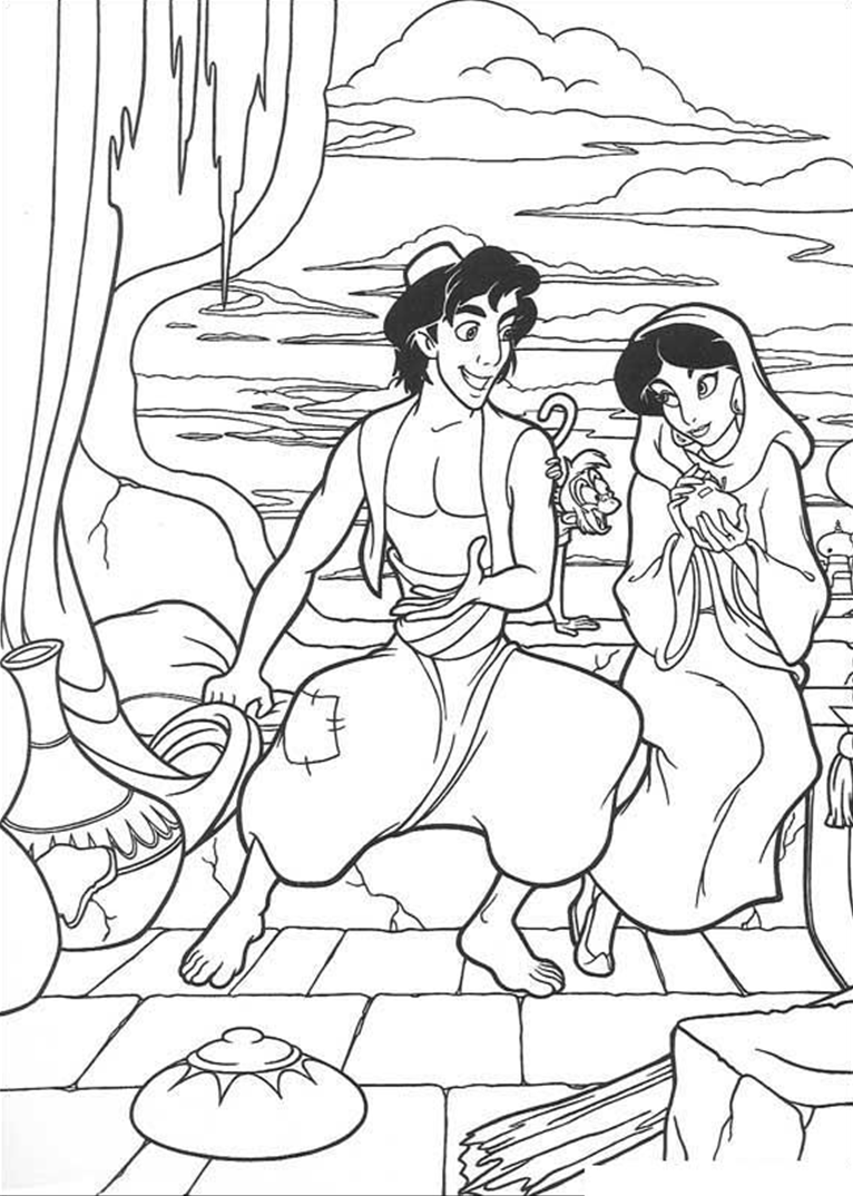 Aladdin coloring page   Coloring pages and Printables   Pinterest ...