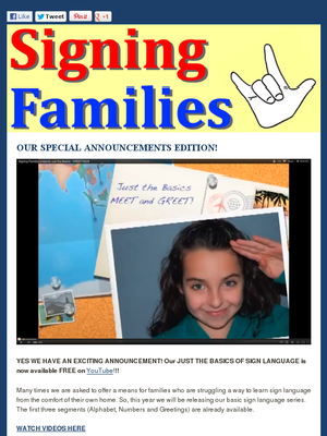 Deaf and special education resources in this newsletter.. via SigningFamilies.com