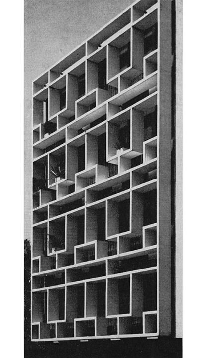 APARTMENT BLOCK WITH A PRECAST CONCRETE FACADE, ZÜRICH 1960s BONALLI